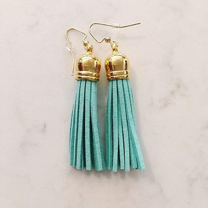 Mint Medium Tassel Earring