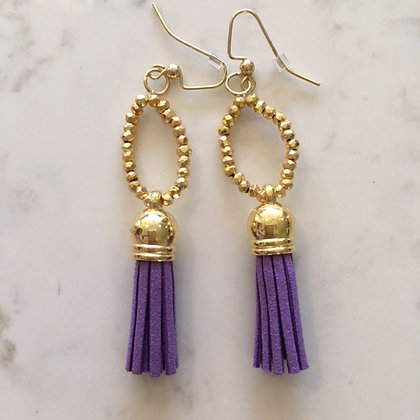 Purple Circle Earring
