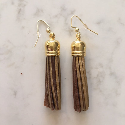 Gold Medium Tassel Earring