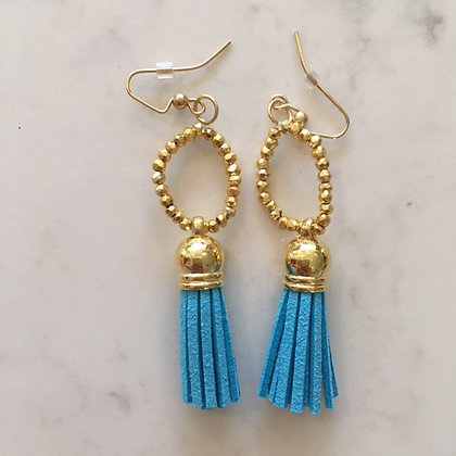 Turquoise Circle Earring