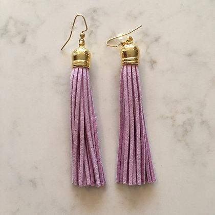 Lavender Tassel Earring