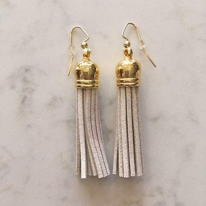 Ivory Medium Tassel Earring