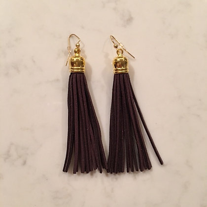Dark Brown Tassel Earring
