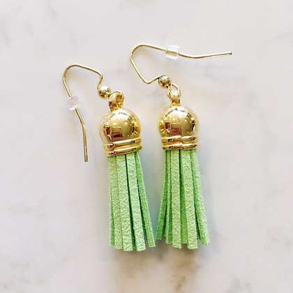 Lime Short Tassel Earring