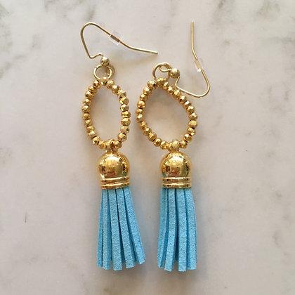 Light Blue Circle Earring