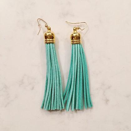 Mint Tassel Earring