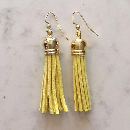 Yellow Medium Tassel Earring