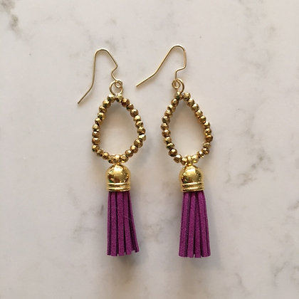 Orchid Purple Circle Earring