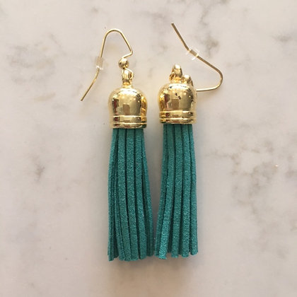 Green Medium Tassel Earring