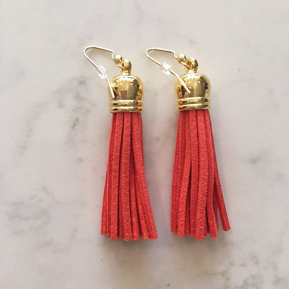 Orange Medium Tassel Earring