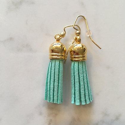 Mint Short Tassel Earring
