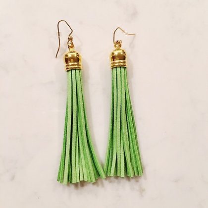 Lime Tassel Earring