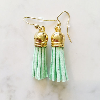 Light Lime Short Tassel Earring