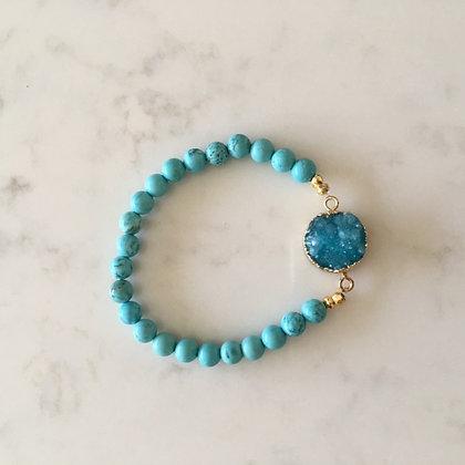 Turquoise Druzy Agate Bracelet