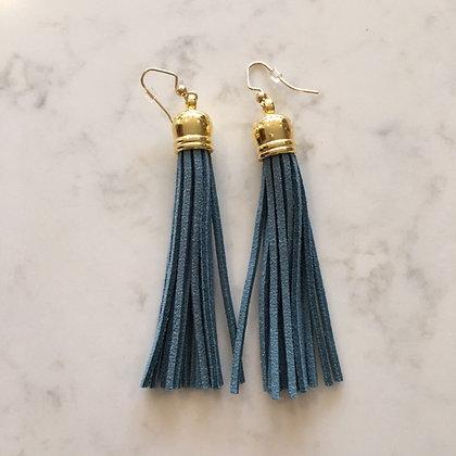 Laguna Blue Tassel Earring