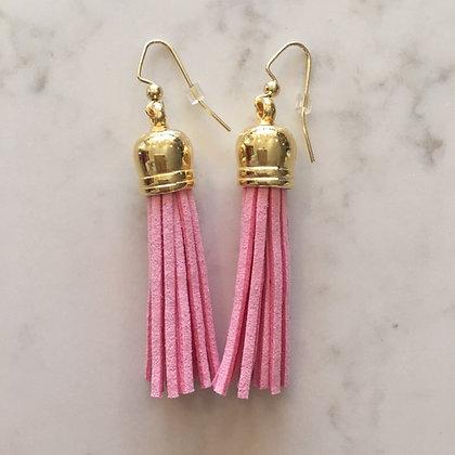 Light Pink Medium Tassel Earring