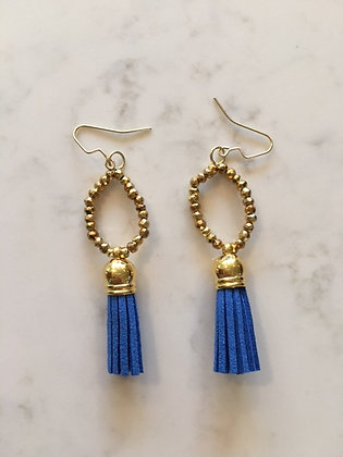 Blue Circle Earring