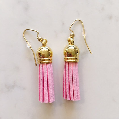 Light Pink Short Tassel Earring