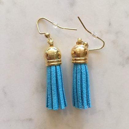 Turquoise Short Tassel Earring