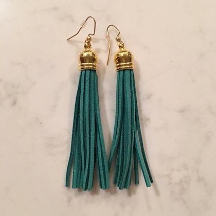 Green Tassel Earring