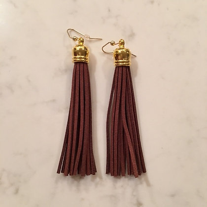 Brown Tassel Earring