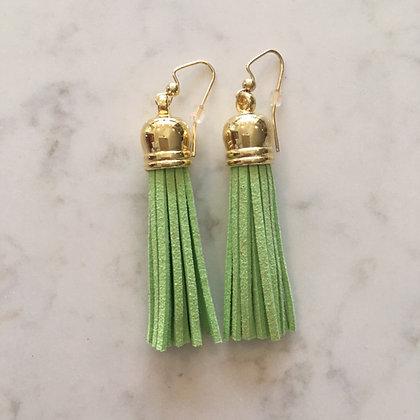 Lime Green Medium Tassel Earring