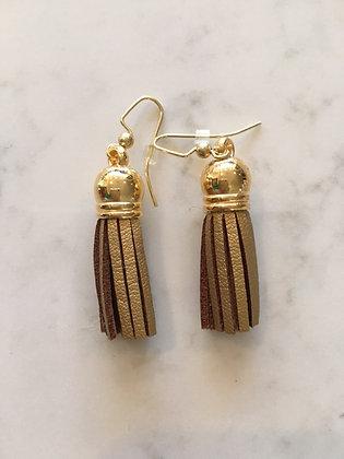 Gold Short Tassel Earring