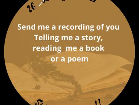 26 til 31 : Tell me a story, read me a book, read me a poem