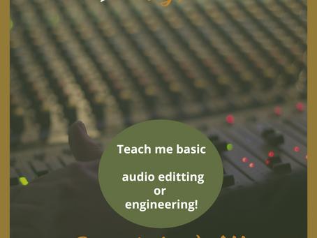 21 til 31 Work : Audio Editing and Engineering Help