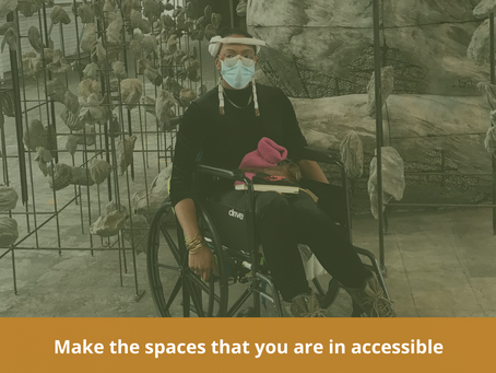 25 til 31 Work : Make the spaces that you are in accessible