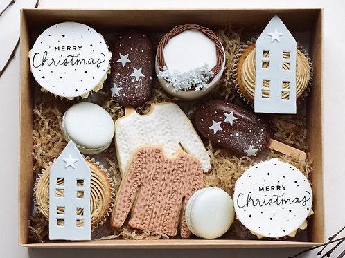 Cosy Rustic Christmas Gift Box