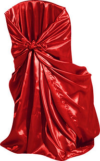 Universal Satin Chair Cover (Red)