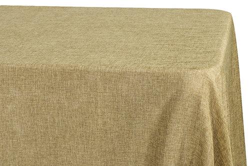 """90"""" x 132"""" Burlap Style Table Cloth"""