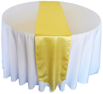 "Bridal Satin Runners 12"" x 108"" (25+ Colors)"