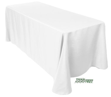 "90"" x 132"" Scuba Table Cloth (White)"
