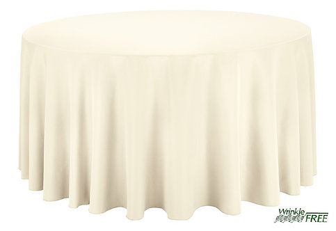 "120"" Round Scuba Table Cloth (Ivory)"