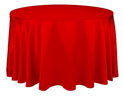 """Satin Table Cloths 120"""" Round (25+ Colors)"""