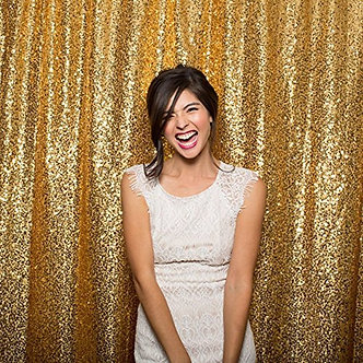 Gold Shimmer Backdrop -- 12' W x 14' H - LARGER SIZES AVAILABLE