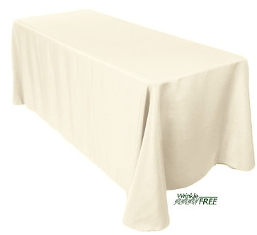 """90"""" x 132"""" Scuba Table Cloth (Ivory)"""