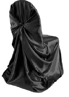 Universal Satin Chair Cover (Black)