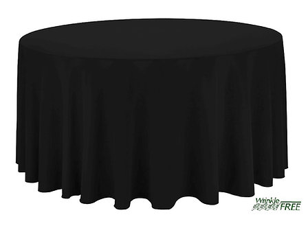 "120"" Round Scuba Table Cloth (Black)"