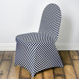 Plaid Spandex Chair Cover