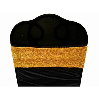 Sequin Spandex Band (Gold)
