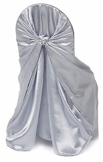 Universal Satin Chair Cover (Silver)