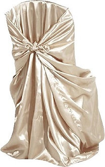 Universal Satin Chair Cover (Ivory-Champagne)