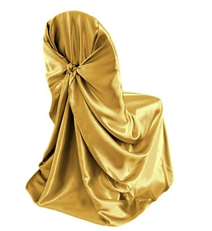 Universal Satin Chair Cover (Gold)