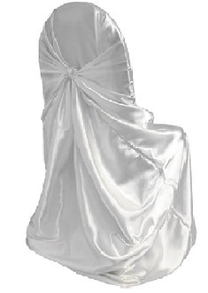 Universal Satin Chair Cover (White)