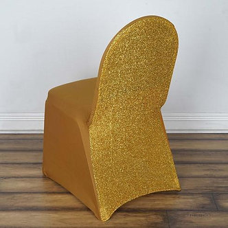 Shimmer Spandex Chair Cover - Gold