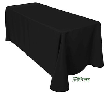 "90"" x 132"" Scuba Table Cloth (Black)"
