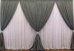 Grey Curtains Backdrop